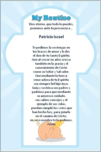 5 Oraciones Para Bautizo De Ninã De Ninõ Y Corta En Forma