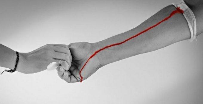 Donando sangre se adelgazar